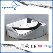 Corner ABS Board Whirlpool Massage Bathtub in White (AB0818)