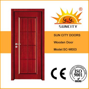 Город солнца окрашены односпальные деревянные двери (СК-W003)