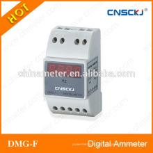 DMG-F Medidor de frecuencia digital hz con riel guía instalado