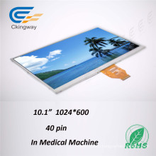10.1 Inch Pixel Pitch 0.2175X0.2088 Lvds Interface Touch Screen