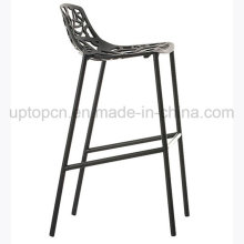 Hollow Black Aluminium High Bar Chair pour Club (SP-HBC355)