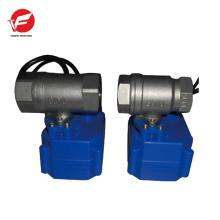 Válvula de controle de sucção elétrica automática de ar de aço inoxidável