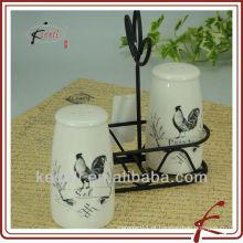 Garrafa de pimenta de sal de cerâmica