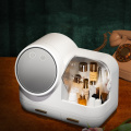 Fan and 360° Rotating Adjustable Lighted Makeup Mirror