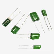 Condensador de película de poliéster verde de Topmay Tmcf01 Cl11