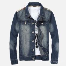 Factory OEM Mens Fashion Jeans Vintage Denim Jacket