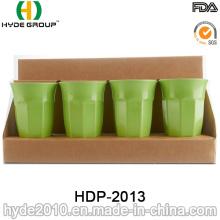 Taza de fibra de bambú de plástico libre BPA (HDP-2013)