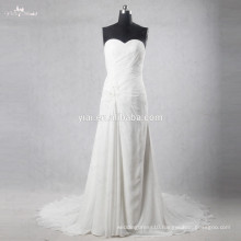 Beaded Cotton Wedding Dresses Sleeveless Bridal Dresses