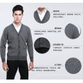 Yak Wool/Cashmere V Neck Cardigan Long Sleeve Sweater/Clothes/Knitwear
