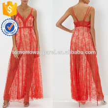 New Fashion Red Strap Lace Maxi Dress Manufacture Wholesale Fashion Women Apparel (TA5269D)