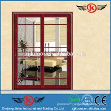 JK-AW9100 design élégant porte vitrée en verre à la porte coulissante en aluminium