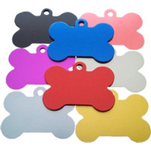 Wholsales Metall Lager Aluminium Knochen Tags (xd-08255)