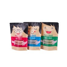 Stand Up Kraft Paper Pouch with Zipper