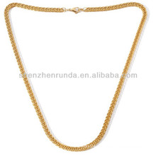 Atacado mens jóias de aço inoxidável ouro colar vners jóias