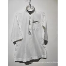 camisa branca muçulmana para criança
