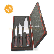 chef knife and paring fruit knife Japanese damascus set of kitchen knives