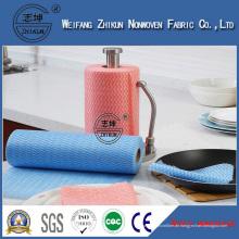 Großhandelsfarbiges Spunlace nichtgewebtes Abwischen-Reinigungs-Gewebe