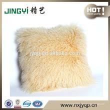 Vente rapide cheveux longs doux Tibétain agneau Coussin de fourrure