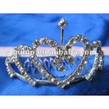 Crstal tiara comb (GWST12-089)