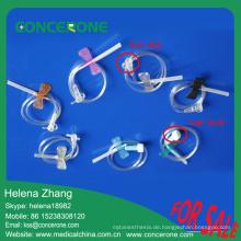 Gute Qualität Hersteller medizinische Verwendung Einweg Sterile Kopfhaut Ader Set