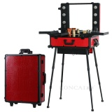 2016 Makeup Trolley Train Case with Light