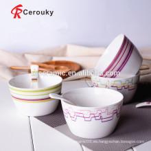 China cuenco de frutas tazón de ensalada de cerámica