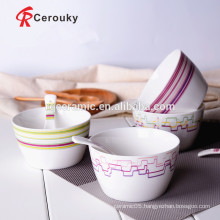China fruit bowl ceramic salad bowl