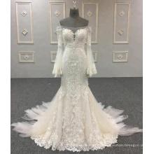 Vestidos de novia por encargo de la sirena del Applique de la sirena del vestido de boda de Alibaba de China por encargo 2018