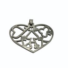 China supplier, 2014 moda pingente de coração de aço inoxidável, pingente romântico