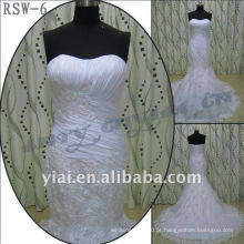RSW-6 2011 Hot Sell New Design Senhoras Elegante Elegante Personalizado Custom Realmente e Ruffle Mermaid Bridal Dress