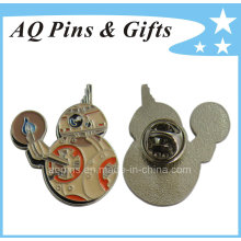 BB8 Robot Metal Lapel Pin with Enamel Color (badge-235)