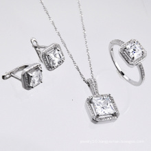 Sterling Silver Micro Pave Zirconia Jewelry Set (YS-0842. JPG)