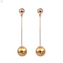 Damenmode exquisite Eleganz Perle lange Quaste baumeln Ohrringe