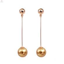 Women Fashion Exquisite Elegance Pearl Long Tassel Dangle Drop Earrings