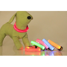 New product PU flashing lights dog collar