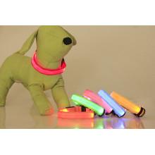 Novo produto PU luzes piscando coleira de cachorro