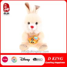 Presentes por atacado coloridos do brinquedo do coelho do luxuoso de Easter com ovo