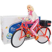 Электрические куклы света Велосипеды Dance Girl Toy