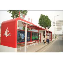 Metal Painted Bus Stop Shelter Canopy Booth Kiosks