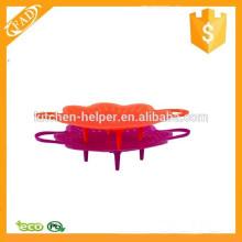 Colander et vaporisateur en silicone réutilisable au lave-vaisselle