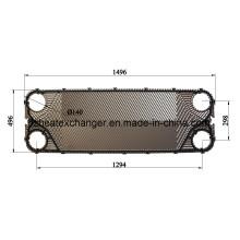 Placa AISI / Titanio para intercambiador de calor de juntas