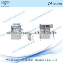 Linha automática da embalagem com a máquina do tampão do vácuo do enchimento