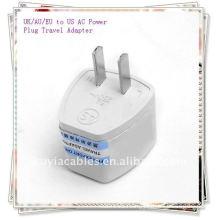 Universal UK/AU/EU to US AC Power Plug Travel Adapter