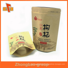 laminated material custom food grade zipper top stand up foil lined paper bags with your logo printed