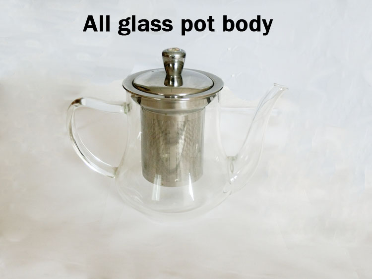 Glass teapot tea strainer