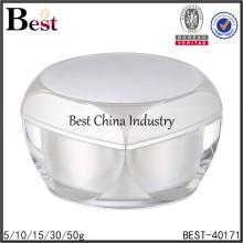 contenedor de acrílico grande para cosméticos, gran contenedor de crema acrílica