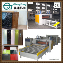 High gloss panel production line / PUR Hot Melt Glue Press Machine for MDF Board