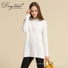 Suéter de punto de las mujeres del ordenador de la cachemira de Directlymongolian de la fábrica con el mejor quanlity