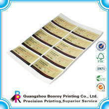 Adhesive waterproof custom printed stickers with logo