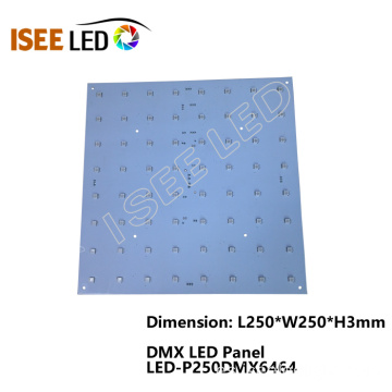 Panel de luz LED RGB controlable 8x8 DMX 512